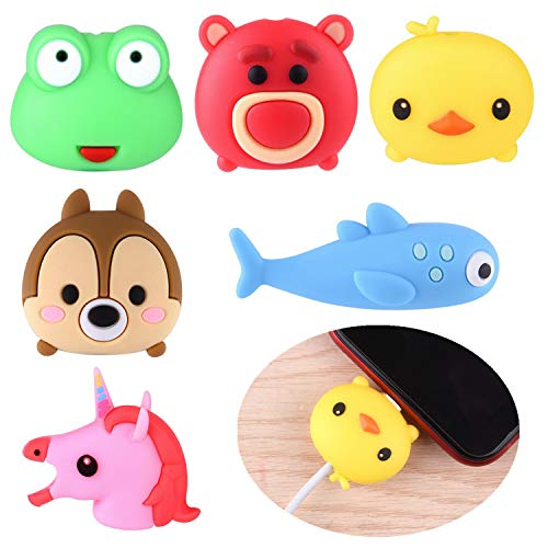 ASTARON 6Pcs Animal Cable Protectors for iPhone/iPad, Phone USB Charger Cable Saver Cable Wire Protector,Phone Accessory…