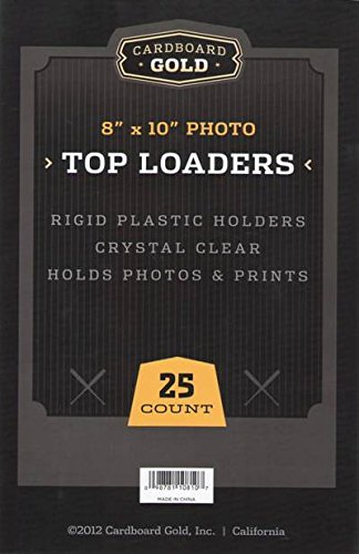 1 Case (250ct) Cardboard Gold 8'' x 10'' Photo Top Loaders - Next Generation Archival Protection PRO Toploaders KEEPS LARGER 8x10 items ULTRA PROTECTED by CBG