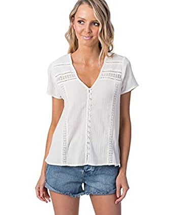 Rip Curl Women's Last Summer II TOP, Off White, 2XS