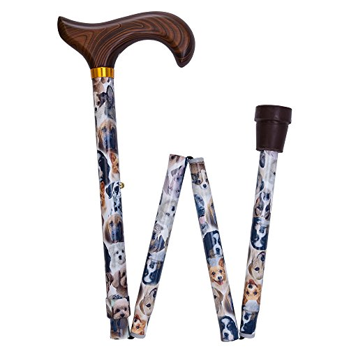 Dog Walking Cane - Dogs Designer Folding Adjustable Derby Walking Cane