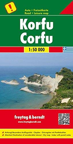 Corfu 1:50 000 FB Road Map (Greece) (English, Spanish, French, Italian and German (Corfu Greece Map)