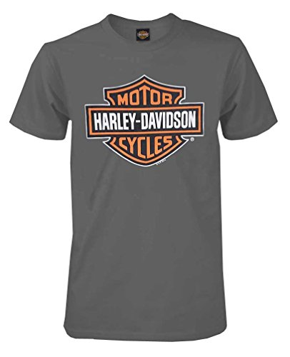Harley-Davidson Men's Bar & Shield Short Sleeve Tee, Charcoal 30291958 (3XL)