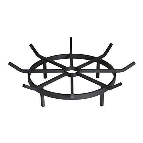 SteelFreak Wagon Wheel Firewood Grate for Fire Pit - Made in the USA (24 Inch)