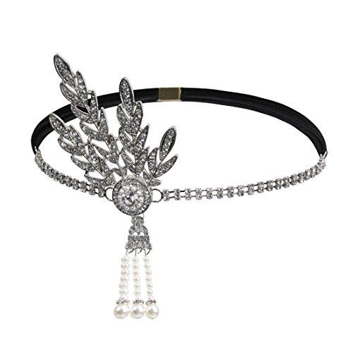 new kayamiya women s 1920s great gatsby headband art deco inspired Flapper Fashion 1918 new kayamiya women s 1920s great gatsby headband art deco inspired flapper headpiece platina