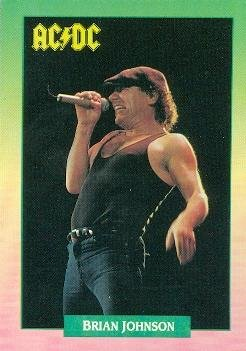 Brian Johnson trading card (ACDC Back in Black) 1991 Brockum Rock Music #90 from Autograph Warehouse