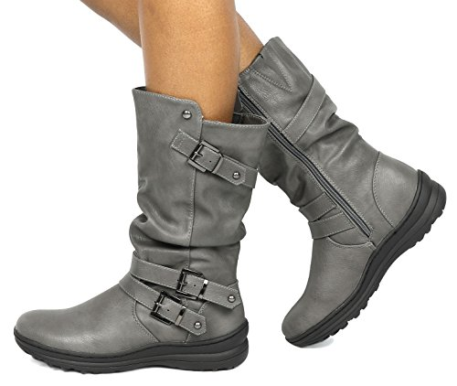 Dream Pairs Womens Mosca Fashion Boot Grigio
