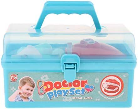 SM SunniMix お医者さんごっこ おもちゃ 歯医者セット おままご ごっこ遊び ロールプレイセット 全2カラー - ブルー