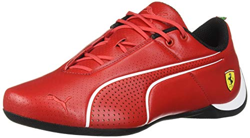 (PUMA Ferrari Future Cat Ultra Jr Sneaker, Rosso Corsa White, 6.5 M US Big Kid)