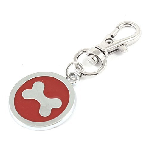 eDealMax corchete de la langosta del Hueso del patrn etiqueta Redonda perro mascota colgante Collar ID
