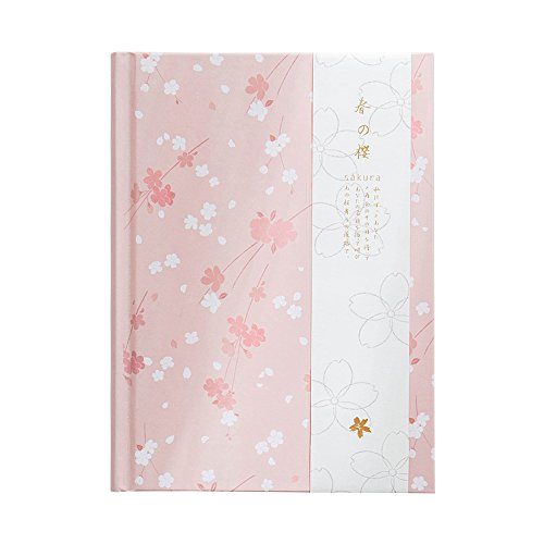 Ya Jin Cherry Blossom Notebook Handcover Small Book Planner Journal Traveler Notepad 113 Sheets, Pink