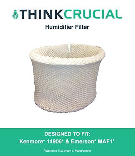 Crucial Air  Kenmore 14906 EF1 and Emerson MAF1 Humidifier Wick Filter, Part No.42-14906 (Best Air Humidifier Filter Ef1)