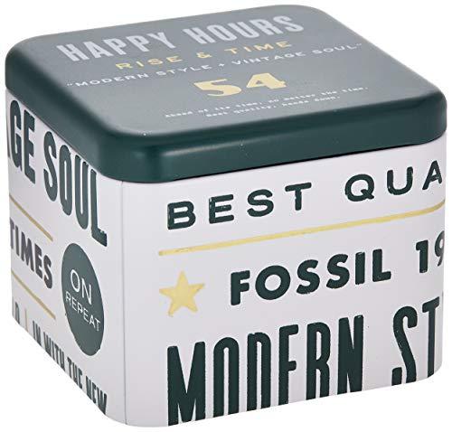 Fossil herr kronograf kvartsur med läderrem FS5436