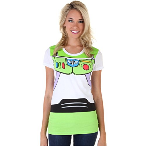 [Toy Story Buzz Lightyear Costume Junior Ladies T-Shirt-Junior Large [JL]] (Buzz Lightyear Costumes Women)