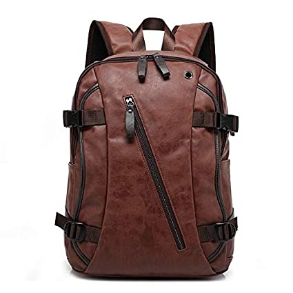 e082b62ff42f Fur Jaden 20 Ltrs Brown Faux Leather Water Resistant Anti Theft Laptop  Backpack: Amazon.in: Bags, Wallets & Luggage