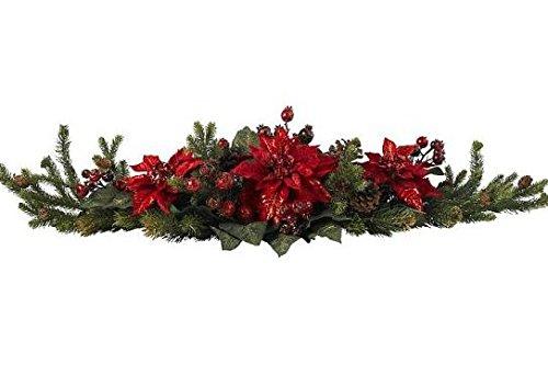 SKB Family Poinsettia & Berry Centerpiece incredible definitive decor
