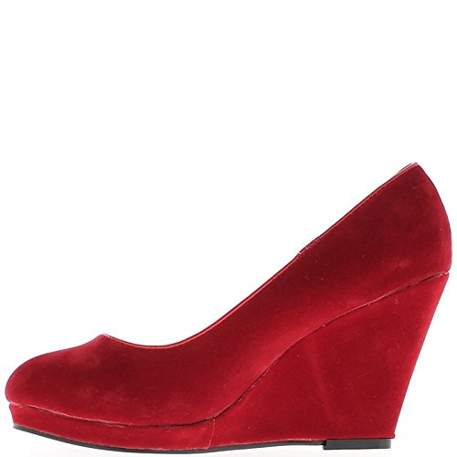 Offset red Aspect Suede 9cm Heel and Tray Round Tips wKsrJu