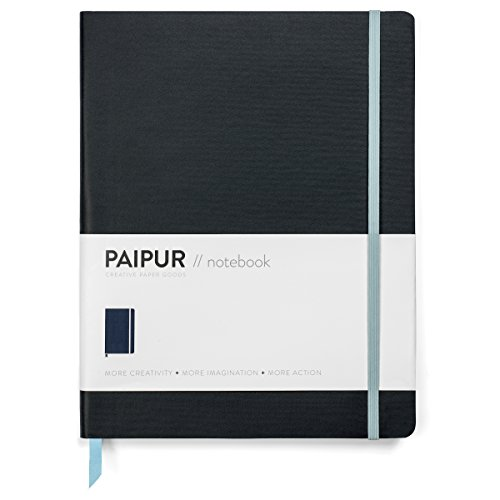 PAIPUR Notebook ~ Dotted Grid and Ruled HYBRID format ~ Color Series NARROW 0.24