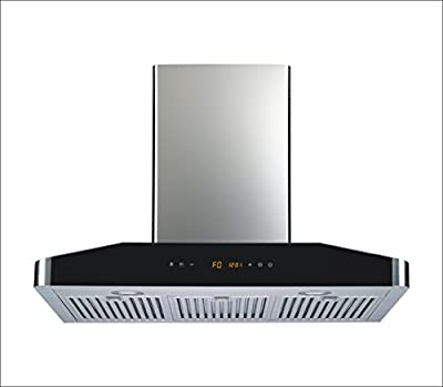 "Winflo Elite 30"" 750CFM Air Flow 5 Speed Control Convertible Stainless Steel Wall Mount Range Hood with Baffle Filters and Ultra Bright LED Lights"