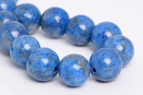 8mm Genuine Natural Denim Blue Lapis Lazuli Beads Round Loose Beads 7.5'' Crafting Key Chain Bracelet Necklace Jewelry Accessories Pendants
