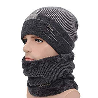 852ba76e67e AETRUE Skullies Beanies Men Scarf Knitted Hat Cap Male Plus Gorras Bonnet  Warm Wool Thick Winter Hats for Men Women Beanie Hat  Amazon.in  Beauty