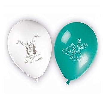 Juego de 8 globos Vaiana Disney para decoración de ...