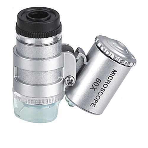 60x Magnification Microscope Led With Currency Focus Adjusting Lens Barrel Lighted Magnification