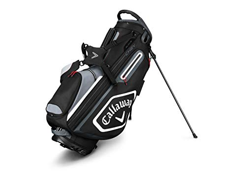 Callaway Golf 2019 Chev Stand Bag, Black/Titanium/White