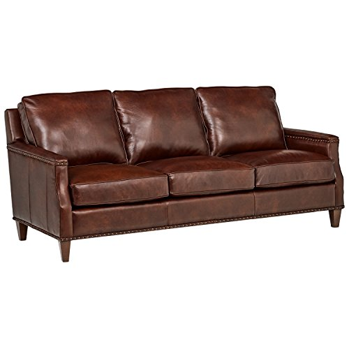 Stone & Beam Marin Leather Studded Sofa, 87