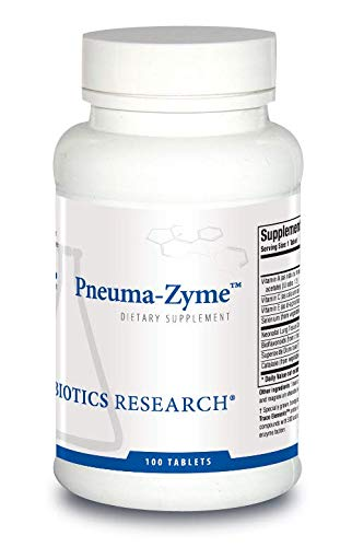 Biotics Research Pneuma-ZymeTM - Respiratory Support with Neonatal Lung. Supports Lung Healing and Repair. Upper Respiratory Health 100 Tabs