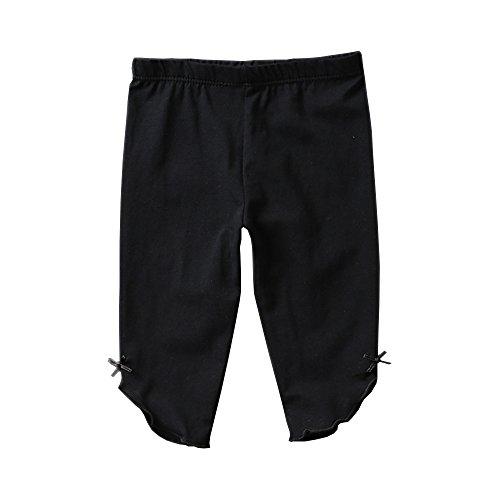 Kids Bron Toddler/Little Girls Capri Leggings Pants (Black-1 Pack, 3T/Toddler Girl)