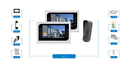 JeaTone 10 Inch TFT Wired Video Door Phone Intercom Security Camera Doorbell Home Security Camera System 32GB SD Card Video Record Monitor Door Video Camera Best Selling by Jeatone (Image #1)