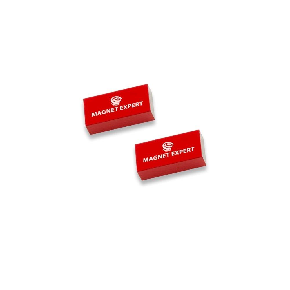 Magnet Expert® 2x Alnico rectangulaire bar aimants, 0,1kg force d'adhérence, 10 x 5 x 20mm, 1 ensemble 1kg force d'adhérence Magnet Expert® ALBAR100520-1