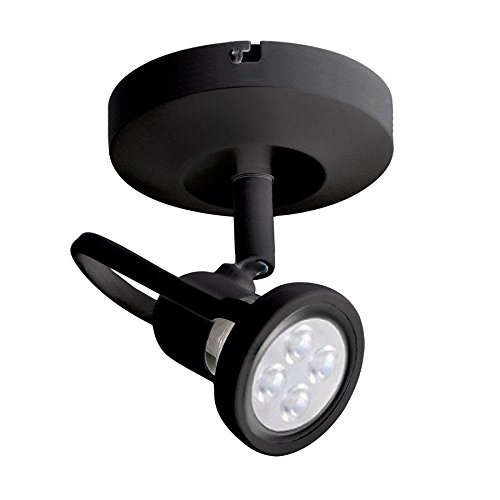 WAC Lighting ME-826LED-BK LED Monopoint 826 Spot Light with LED Lamp Included, Black