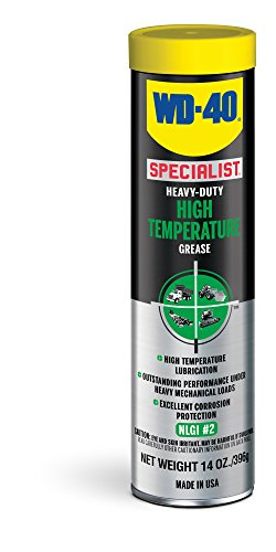 Grease Bearing Temperature - WD-40 Specialist Heavy-Duty High Temperature Grease, 14 OZ [1-Pack]