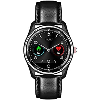 HAMSWAN MX9 ECG Smart Watch Blood Pressure PPG Heart Rate Blood Pressure Monitor Multi-Languages IP68 Waterproof Smartwatch Clock for Men Women(Black ...