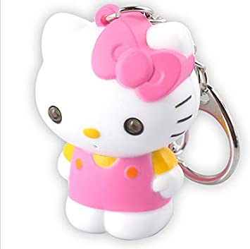 Llavero de Hello Kitty con LED y sonido.: Amazon.es: Oficina ...