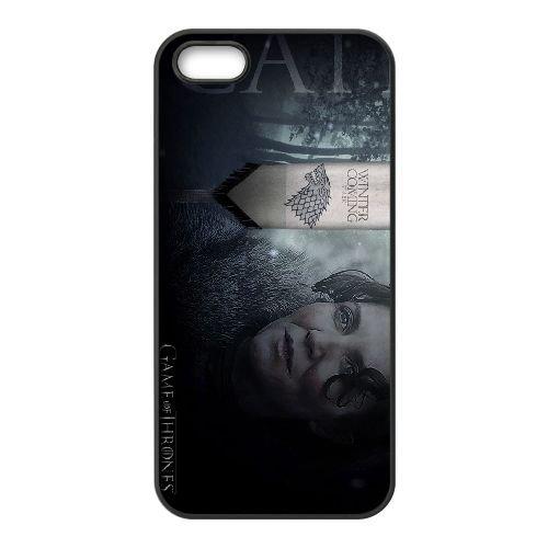 Caitlin Stark 001 coque iPhone 4 4S cellulaire cas coque de téléphone cas téléphone cellulaire noir couvercle EEEXLKNBC23983