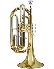 NOLOGO Qyzs-lj Instrumentos Trompeta, latón Instrumentos Occidental, Bandas de Marcha Trombones for Trombón, Instrumentos de Viento, Oro (Color : Oro)