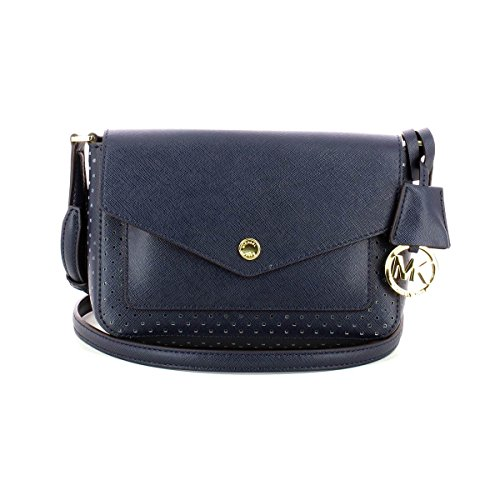 MICHAEL Michael Kors Greenwich Small Flap Crossbody (Navy)