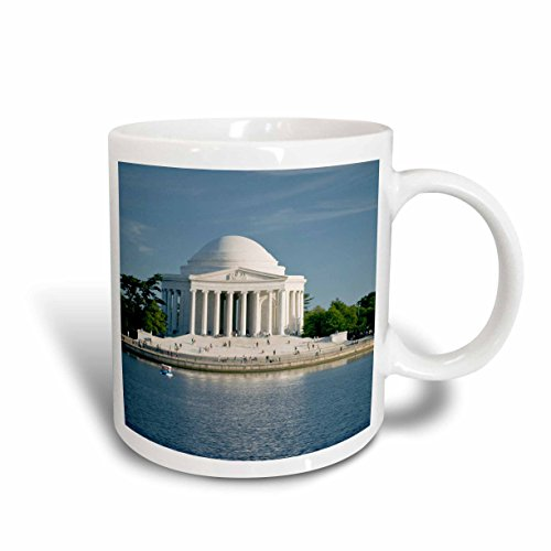 3dRose 88974_1 Washington, DC, Jefferson Memorial, Tidal basin-US09 BBR0019-Brent Bergherm Ceramic Mug, 11 oz, White (Best Souvenirs From Dc)