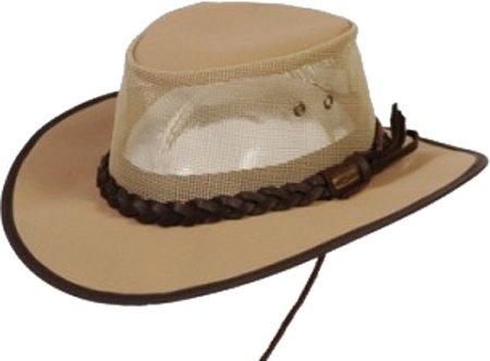 Amazon.com  Conner Hats Canvas Aussie Hat with Mesh Crown   Chin ... c1d0c074003