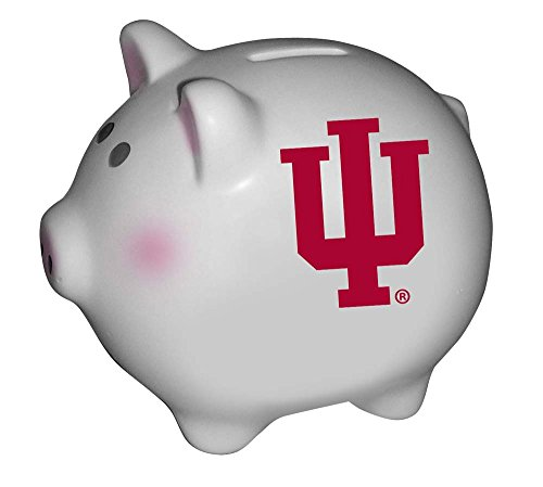 The Memory Company NCAA Indiana University Official Team Piggy Bank, Multicolor, One Size