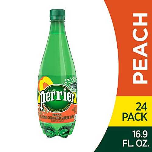 (Perrier Peach Flavored Carbonated Mineral Water, 16.9 fl oz. Plastic Bottles (24Count))