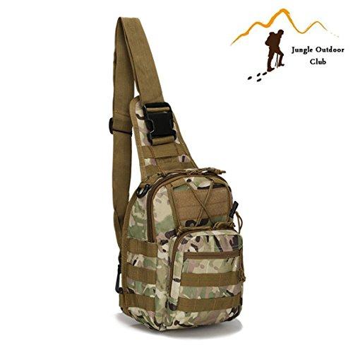 Jungle Oxford Tactical Taschen camouflage Staubbeutel MOLLE Taschen Wild Tasche Rucksack Rucksack Wandern Klettern Radfahren BBQ Runner Brust Tasche, klein, CP Camouflage