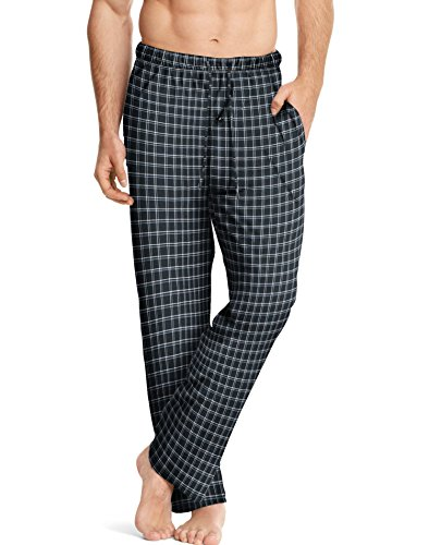 Hanes ComfortSoft Men`s Cotton Printed Lounge Pants - Best-Seller, L