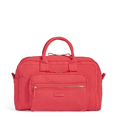 Vera Bradley Iconic Compact Weekender Travel Bag Vera, Coral Reef ()