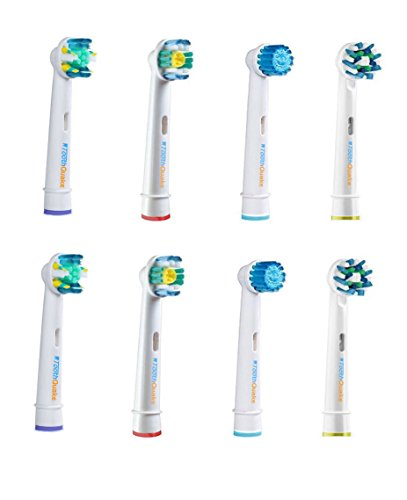 Compatible Oral-B Variety Mix of Electric Toothbrush Replacement Brush Heads, 8 Count Refills