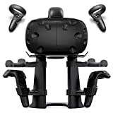 Delamu VR Stand, Virtual Reality Headset and Controllers Holder, VR Headset Stand Compatible with Oculus Go/Rift/Rift S/Quest, HTC Vive, Google Daydream, Samsung VR