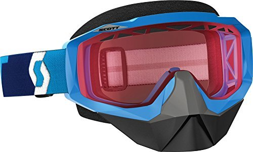 Scott Hustle Blue Amp Rose Chrome Lens Mens Snocross Goggles by Scott