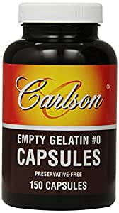 Carlson Labs Empty Capsules, Medium, 150 Count